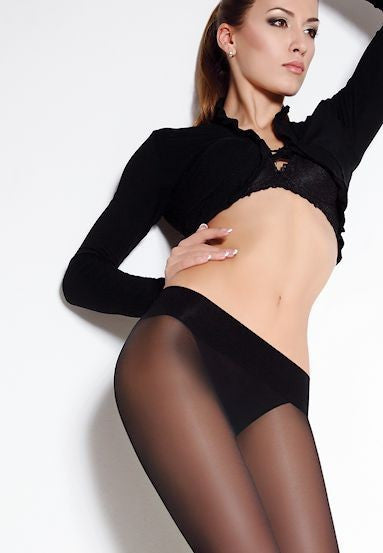 Sensi 40 Denier Low Waist Sheer Tights by Giulia in black