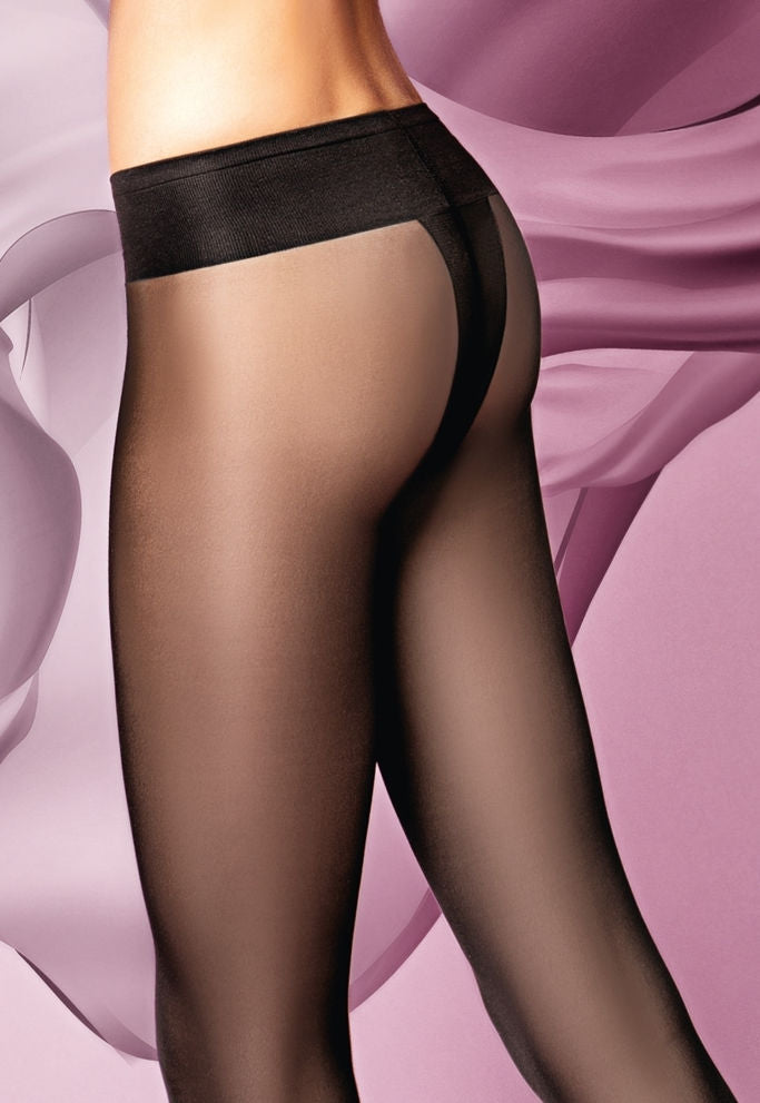 Sensi 20 Denier Low Waist Sheer Tights by Giulia in black