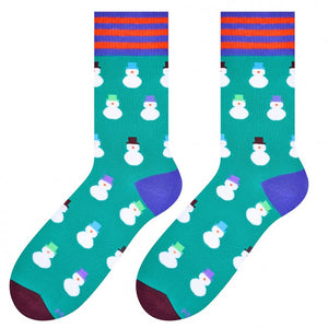 Snowmen Socks in Green by More