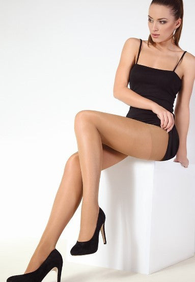 Spa 40 Denier Control Top Sheer Tights by Giulia