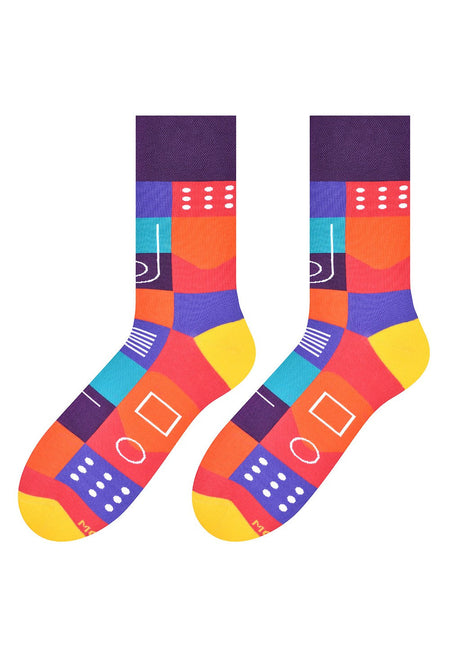Eggs & Rashers Patterned Socks in Navy by More