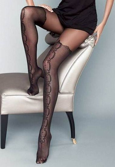 Stivale Mock Hold-Up Fashion Tights by Veneziana