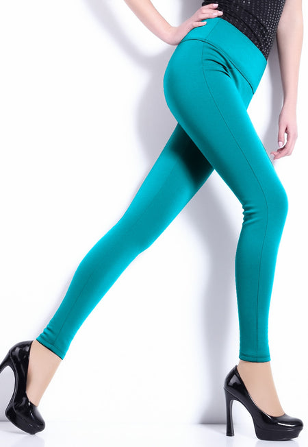 Seamless 180 Den Fleece Opaque Leggings by Attractive