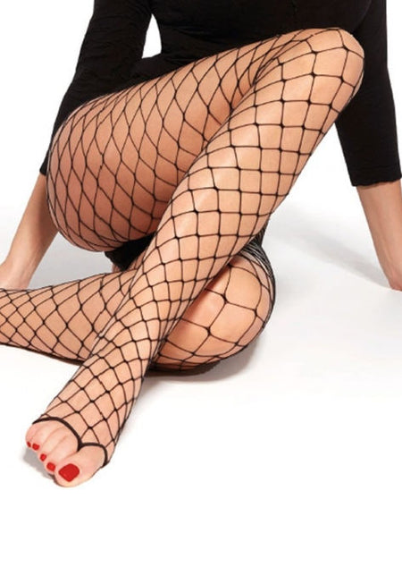 Harper Wraparound Strings Patterned Sheer Tights by Gabriella