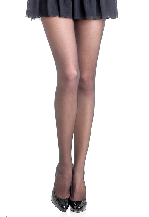 Superlativa 20 Den Seamless Sheer Tights by Omsa in black