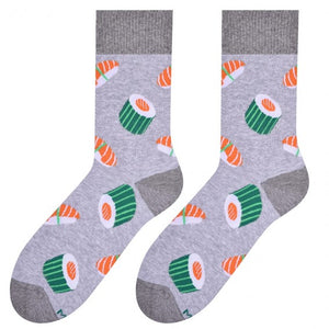 Sushi Socks in Grey by More