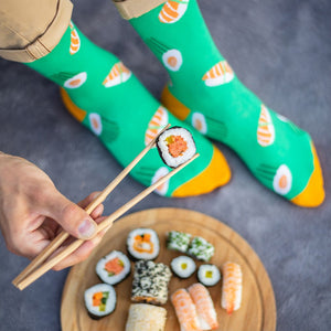 Sushi Patterned Socks in Green by More