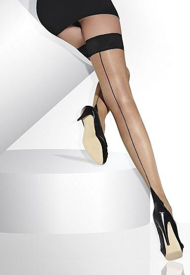 Suzette Backseam Vintage Sheer Hold-Ups by Adrian