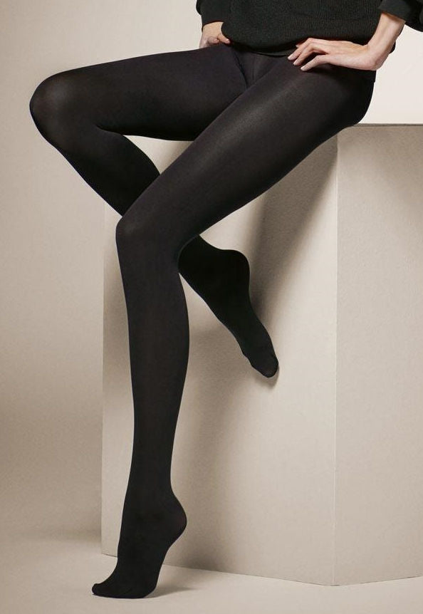 Termico 200 Den 3D Opaque Tights by Veneziana in black