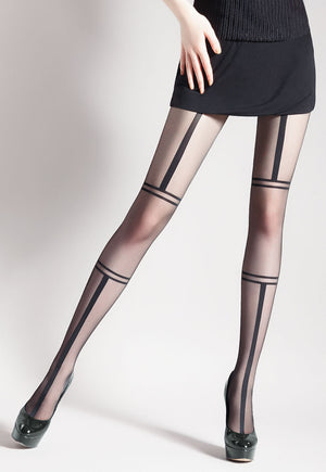 Unit 3 Bondage Patterned Sheer Tights by Giulia