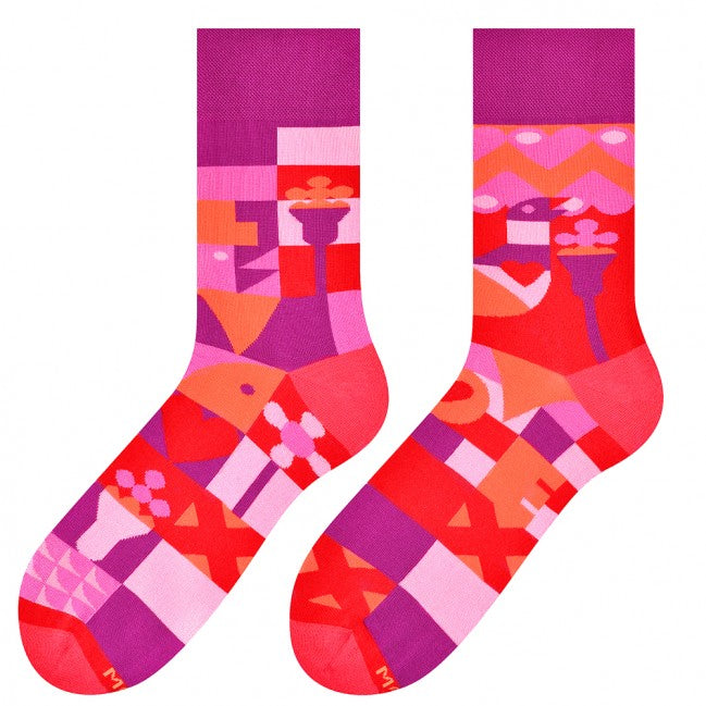 Valentines Odd Socks in Purple by More