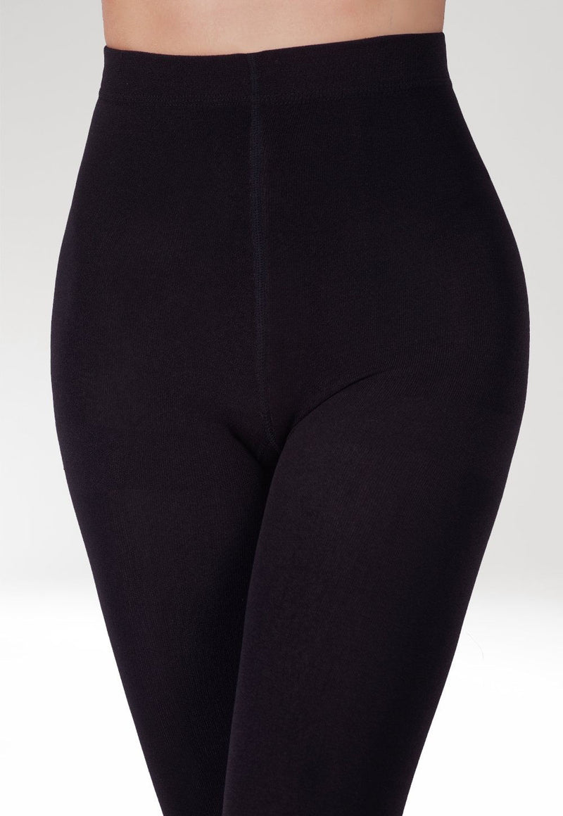 Velvet Touch 300 Den Fleece Opaque 3D Tights by Gatta in black
