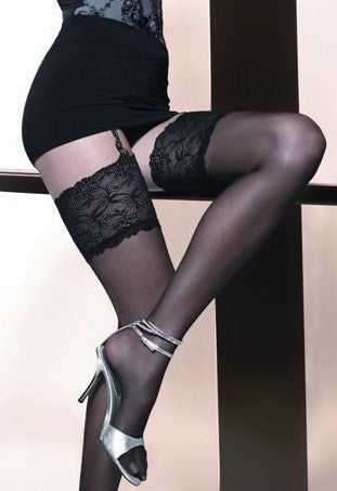 Venus 15 Denier Lace Top Sheer Stockings by Gatta