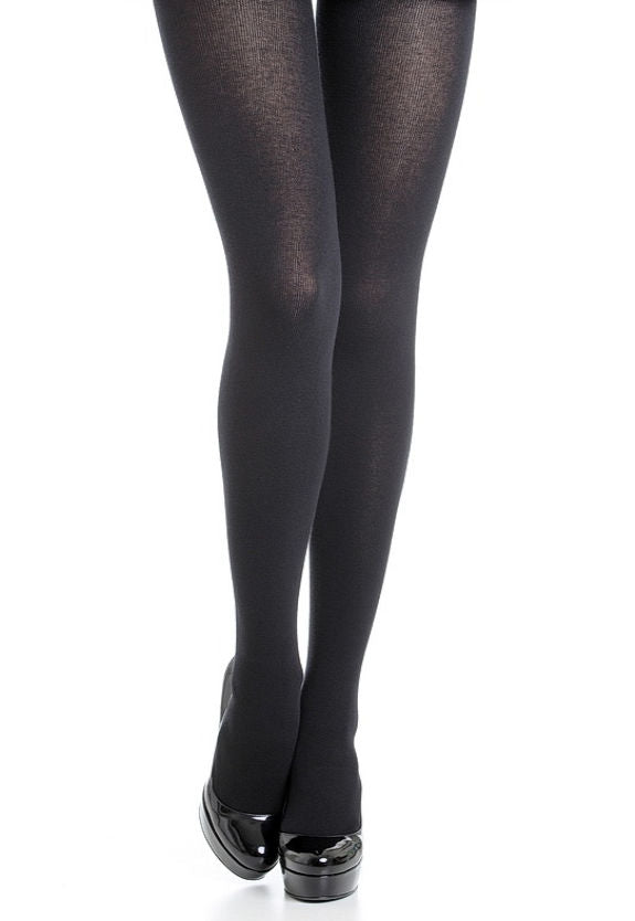 Warm Sensation 600 Den Cotton Opaque Tights by Omsa in black