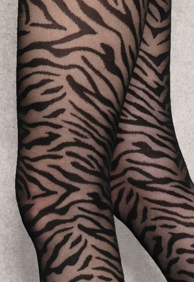Wild Cat 03 Tiger Animal Patterned Tights by Gatta