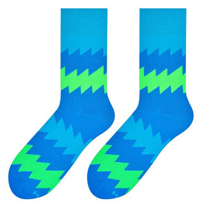 Zigzag Socks in Blue by More