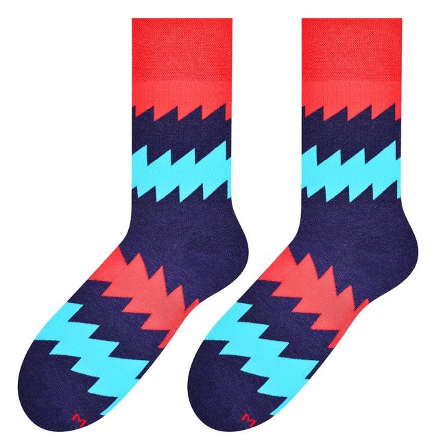 Zigzag Socks in Navy by More