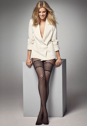 Zoe Honeycomb Patterned Sheer Tights by Veneziana