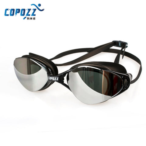 COPOZZ Brand New Professional Swimming Goggles with Anti-Fog UV Adjustable Plating and Waterproof silicone cap