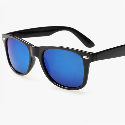UVLAIK  Retro Mirrored UV400 Sunglasses