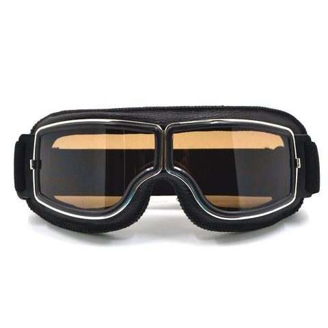 BJMOTO Skid and Dust Proof Motocross Aviator Goggles with Adjustable Elastic Strap