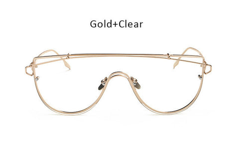 2017 New Over-sized Fashion Flat Top Women Eye Glasses Frame - gogglehunt