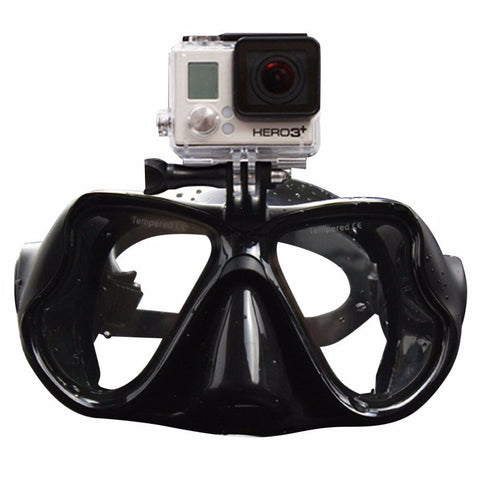 TSAI M-1800 Professional Underwater Diving Mask Scuba Snorkel Swimming Goggles for GoPro Xiaomi SJCAM Sports Camera