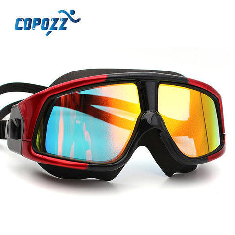 COPOZZ Anti-Fog UV Large Waterproof Silicone Swim Goggles