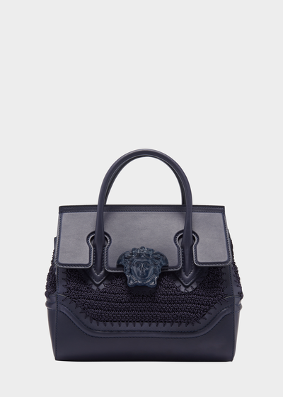 VERSACE CROCHET MEDIUM PALAZZO EMPIRE BAG