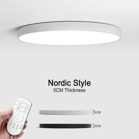 LED Modern Ceiling Lights, Remote Control: Dimmable, Color Change