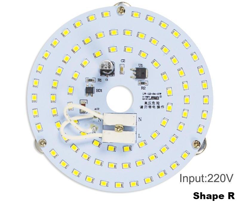 LED Retrofit, No Flicker AC 230V for Ceiling Lights, non dimmable