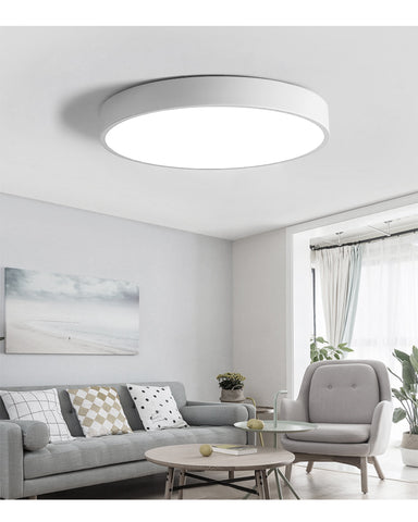 modern LED ceiling lights, round 300 mm, dimmable, emitting color can be set (warm white - normal white - cool white)