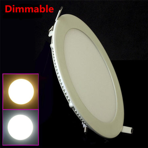 Dimmable LED Panel Round/Square 10 pcs / lot