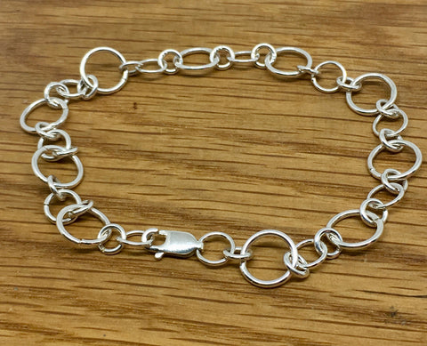 Simple Sterling Silver Charm Bracelet