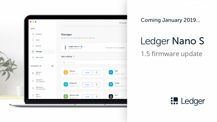 Ledger Nano S 1.5 firmware update