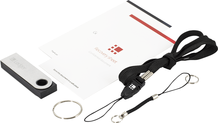 Ledger Nano S box contains