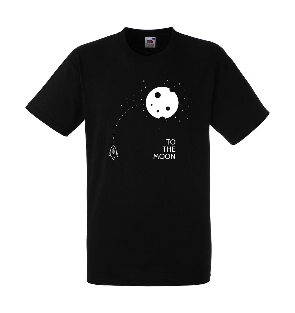 To the Moon t-shirt zwart
