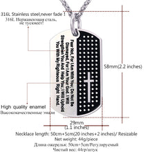 Bible Verse Tag Stainless Steel Necklace & Pendant
