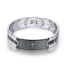 Men's Trendy Jesus Christian Cross Bracelet