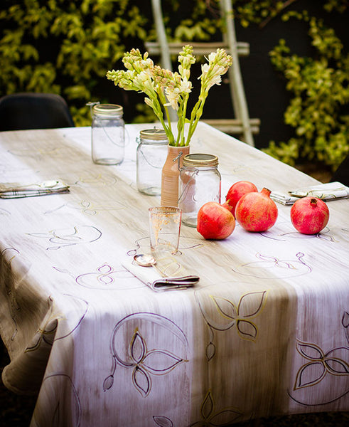 Gold Leaf Tablecloth