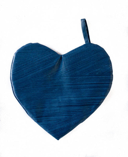 Denim Blue Heart-Shaped Pot Grabber