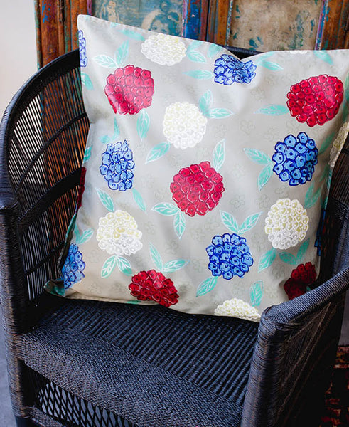 Hydrangeas on Stone Background Scatter Cushion