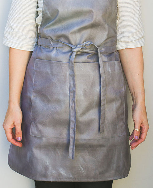 Grey and Silver Wash Apron