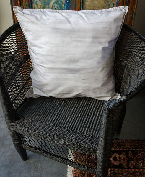 Silver and White Wash Scatter Cushion