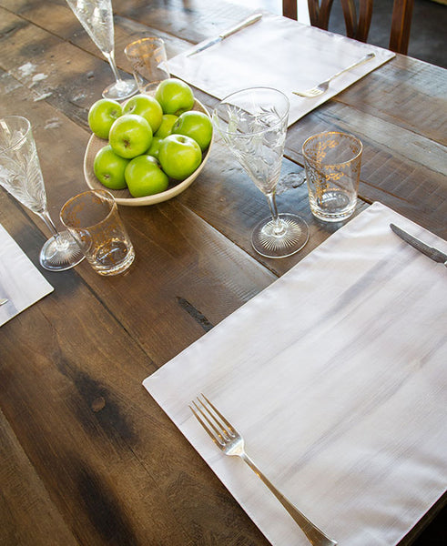 Silver and White Wash Placemats