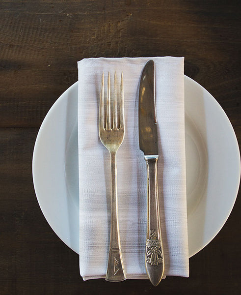 Silver and White Wash Napkins