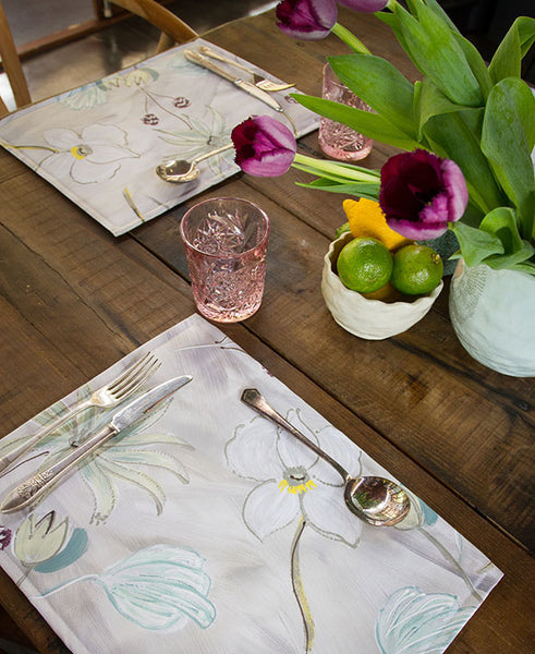 Flower Garden in Neutral Tones Placemats