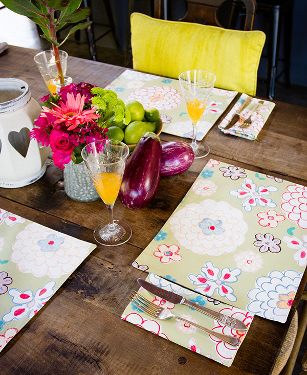 Retro Soft Floral Napkins