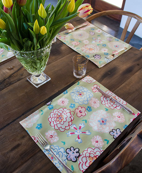 Retro Soft Floral Placemats