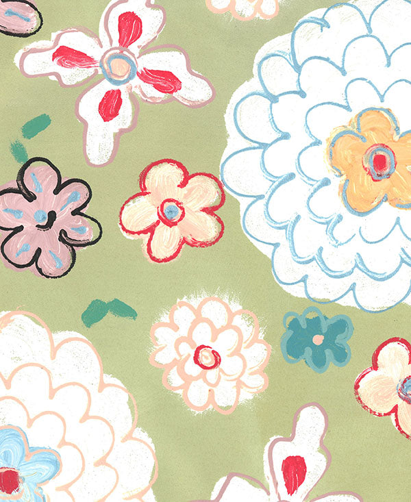 Retro Soft Floral Fabric